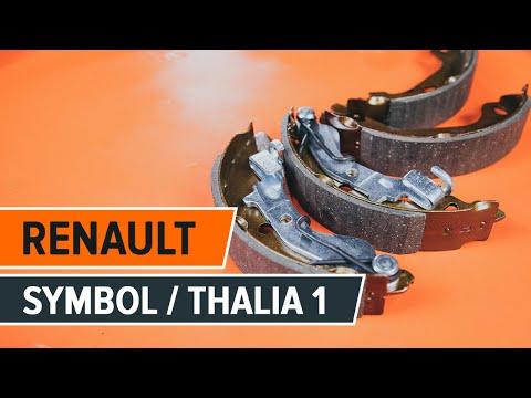 Как да сменим спирачен барабан и комплект спирачна челюст наRENAULT SYMBOL/THALIA 1