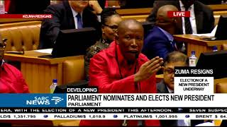 Malema calls a fellow MP to order