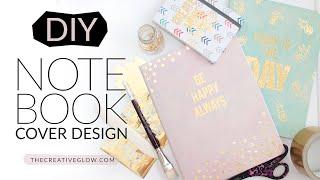 DIY Notebook Cover Design - Gold Leaf Designer Look