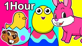 getlinkyoutube.com-Surprise Easter Eggs Special   1 Hour Nursery Rhymes   Baby Toddler Kindergarten Learning, ABC 123
