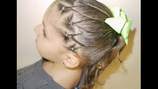 Peinado para niña / Easy ponytail for girls ❤