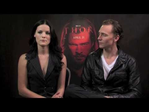 Interview with Jaimie Alexander and Tom Hiddleston on 'Thor'