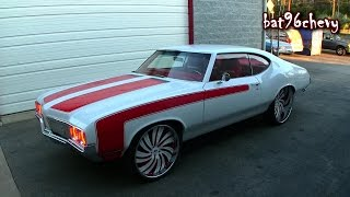"ULTIMATE AUDIO: SUPERCHARGED LS3 '70 Olds Cutlass on 24""/26"" Forgiato Wheels - HD"