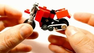 getlinkyoutube.com-How to Build Dual-sport Motorcycle (Small Lego Toy)