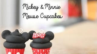 getlinkyoutube.com-Polymer Clay Disney Cupcakes: Mickey Mouse & Minnie Mouse