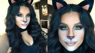getlinkyoutube.com-Feline Glam Halloween Makeup Tutorial | 2015 | Makeup By Leyla