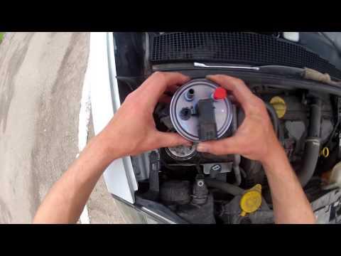 Замена топливного фильтра Renault Kangoo