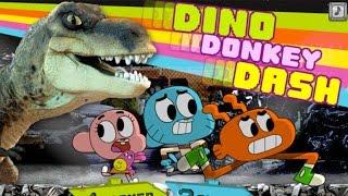 getlinkyoutube.com-The Amazing World of Gumball: Dino Donkey Dash (High-Score Gameplay)