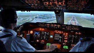 getlinkyoutube.com-KLM B747-400ERF Beautiful Landing at AMS - Cockpit View