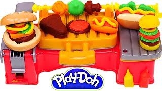 getlinkyoutube.com-Play Doh Cookout Creations New Playdough Grill Makes Play-Doh Hotdogs Hamburgers Kabobs