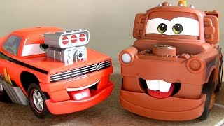 getlinkyoutube.com-Cars Funny Talkers Snot Rod - Mater - Lightning McQueen Disney Pixar Talking Cars by ToyCollector