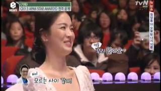 getlinkyoutube.com-[tvN E news] Behind the scenes of Song Hye Kyo in 2013 APAN ceremony