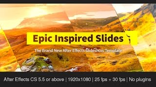 getlinkyoutube.com-Epic Inspired Slides — After Effects project | Videohive template