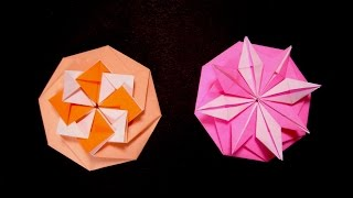 getlinkyoutube.com-Origami Octagon Flower  - Octagon envelope. Tarjeta compleja. Christmas ideas