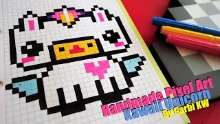 getlinkyoutube.com-Kawaii Unicorn - Pixel Art by Garbi KW