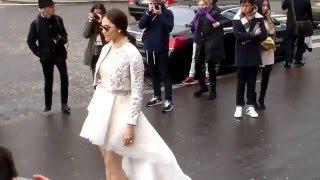 getlinkyoutube.com-Araya A. Hargate Chompoo @ Paris Fashion Week 27 january 2016 show Elie Saab