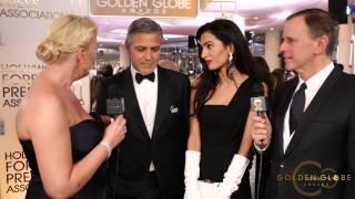 getlinkyoutube.com-2015 1/11 George Clooney and Amal Alamuddin-Golden Globe Awards 2015