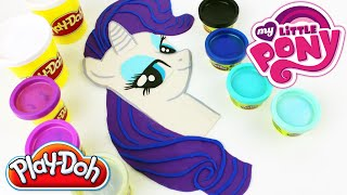 ♥ Play Doh My Little Pony Rarity How to Make MLP Rarity Plasticine Creation