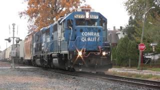 getlinkyoutube.com-HD: WPMI-21 with Conrail Quality NS #5277! Plenty of Horn Action!