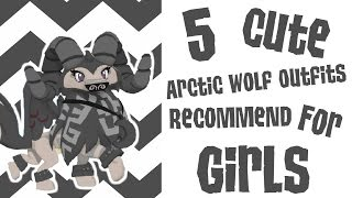 getlinkyoutube.com-Animal Jam ● 5 Cute Arctic Wolf Outfits Recommend for Girls