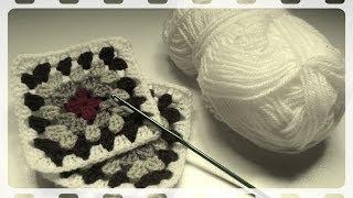 getlinkyoutube.com-Granny Square: como unir los cuadros tejiendo (diestro)