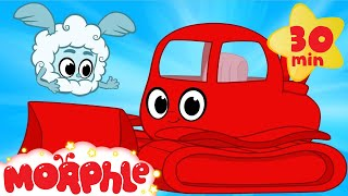 getlinkyoutube.com-My Red Bulldozer And The Magic Weather- My Magic Pet Morphle bulldozer videos for kids