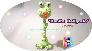 getlinkyoutube.com-Ranita paso a paso (Boligrafo Decorado) porcelana fria - Tutorial cold pocelain Frogs
