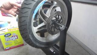 getlinkyoutube.com-Harbor freight motorcycle wheel balancer