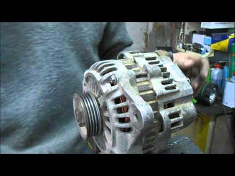 Ремонт генератора форд транзит (митсубиси)