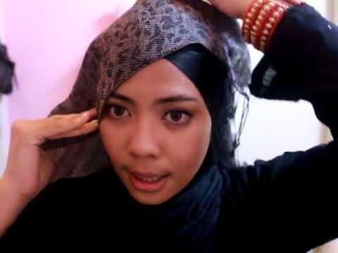 Semi Turban Style Hijab Pashmina
