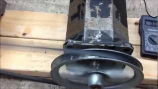 getlinkyoutube.com-AC DC Permanent Magnet Motor Generator GO OFF GRID POWER FREE Home Energy Electricity Setup HOJO PMG