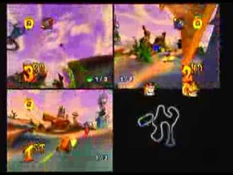 Crash Nitro Kart 3 Player Multiplayer - Uka Cup