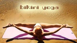 getlinkyoutube.com-BIKINI YOGA WORKOUT | SUPER FLEXIBLE LADY | BEACH BODY