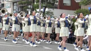 【鎌倉まつり2014】パレード 鎌倉女子大学中高等部マーチングバンド