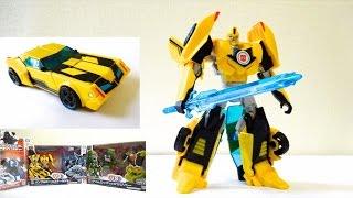"getlinkyoutube.com-トランスフォーマーアドベンチャー バンブルビーをロボからくるまにへんけいさせてあそぼう! Transformers adventure TAV01 ""How to Transform bumblee"""