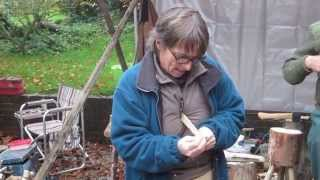 Spoon carving tutorial with Jill Swan and APT Kent - log to spoon in 15 mins - how to make