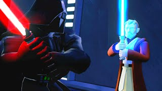 "getlinkyoutube.com-Disney Infinity 3.0 Darth Vader Kills Obi-Wan Kenobi Scene ""Rise Against the Empire Playset"""