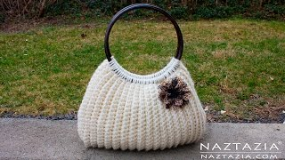 getlinkyoutube.com-DIY Tutorial Easy Crochet Savvy Handbag Purse Tote - Croche Bolsa Borsa Bag