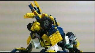 getlinkyoutube.com-LEGO Transformers Bumblebee/Jinouga レゴでトランスフォームするジンオウガ作った