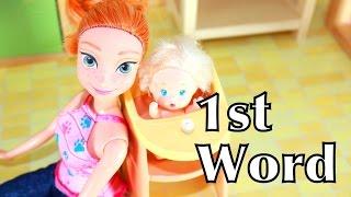 getlinkyoutube.com-Frozen Babies Anna Kids Toby 1st Word Disney Princess Baby Play-Doh Epic Parody Funny Video