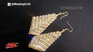 getlinkyoutube.com-DIY Bridal Earrings | How to Paper Earrings | JK Wedding Craft 121