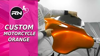 getlinkyoutube.com-Custom Motorcycle Painting - Orange Candy Paint