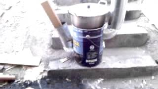 getlinkyoutube.com-Rocket stove 거꾸로 화목난로 초기형 1차 점화테스트 ^^ 2