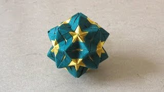 getlinkyoutube.com-Christmas Origami Instructions: Star Sonobe (Maria Sinayskaya)