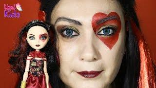 getlinkyoutube.com-Lizzie Hearts (Ever After High) Makyajı - Alis Harikalar Diyarında - UmiKids Makyaj Yapma Teknikleri