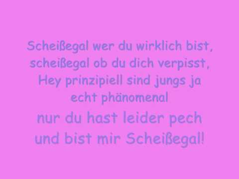 senta sofia - scheißegal (with lyrics)