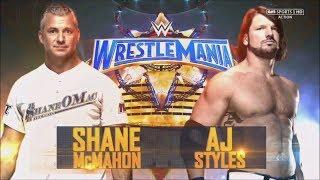 AJ Styles vs Shane Mcmahon Wrestlemania 33 full match HD