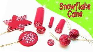 getlinkyoutube.com-Snowflake Cane- Polymer clay Tutorial