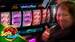 "getlinkyoutube.com-JACKPOT !!! Rock around the Clock - 1c Konami Video Slots - ""San Manuel Sevens..."""