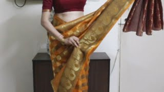 getlinkyoutube.com-How To Wear South Indian Saree-Simple Saree Draping Method Tutoril *